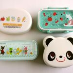 A selection of stacking bento boxes