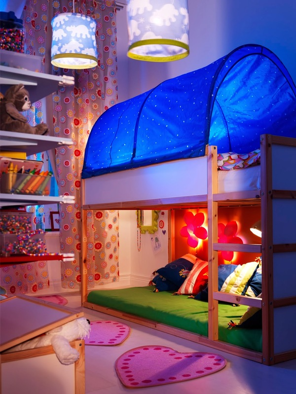 IKEA hacks Kura bed cubby house