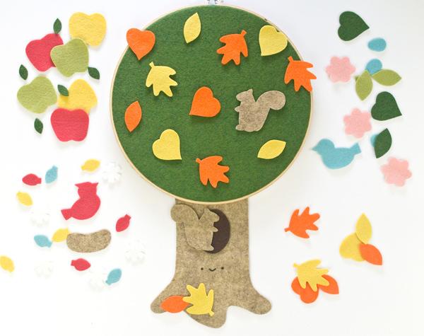 Four Seasons Tree Felt Board