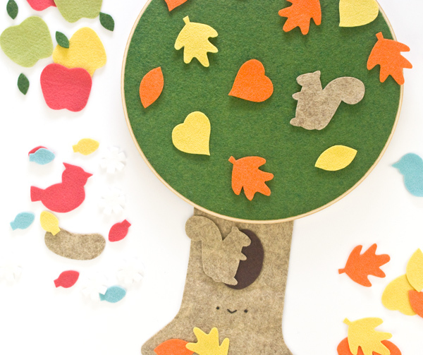 Decorate the Tree with Different Felt Shapes